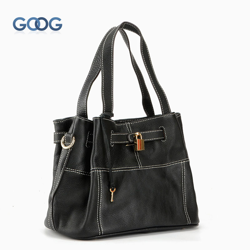 New leather platinum bag handbag European and American fashion litchi pattern lock single shoulder layer cowhide handbags free shipping new fashion brand women s single shoulder bag lady messenger bag litchi pattern solid color 100