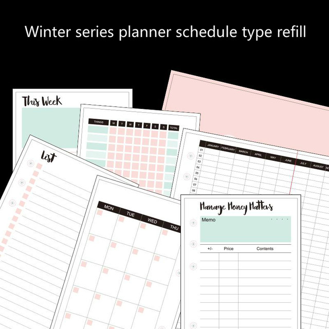 online shop dokibook winter series personal planner filler paper day