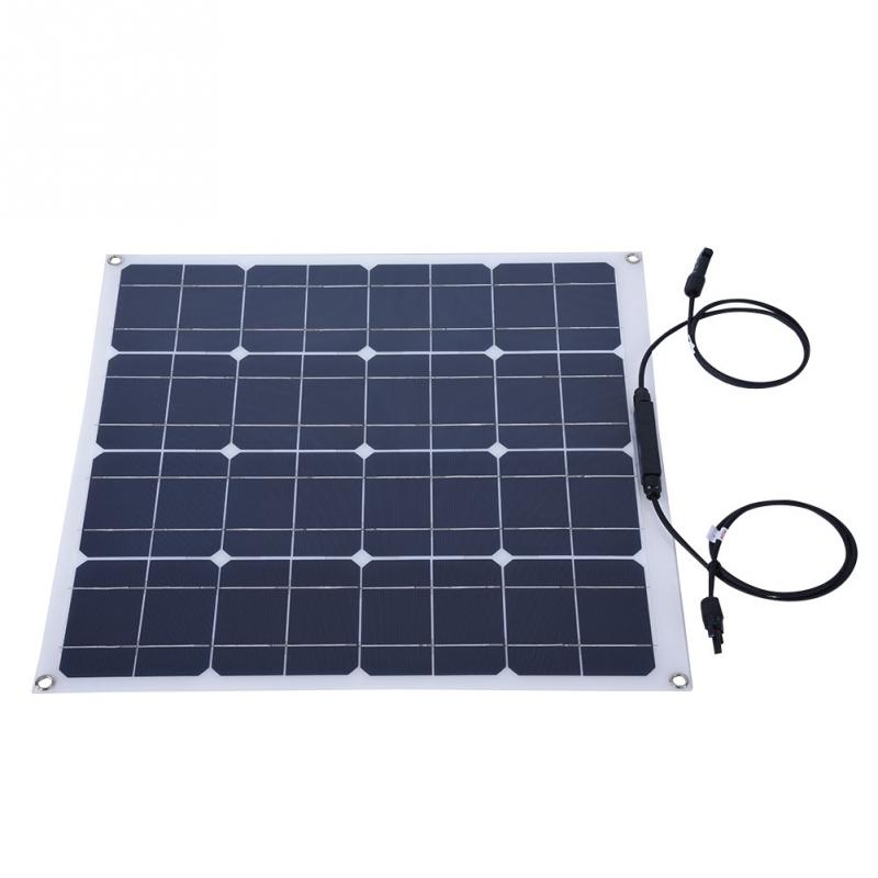 Multi Functional Solar Panel 50w Portable Flexible High Efficiency 12v Outdoor For Home Boat Yacht Rv