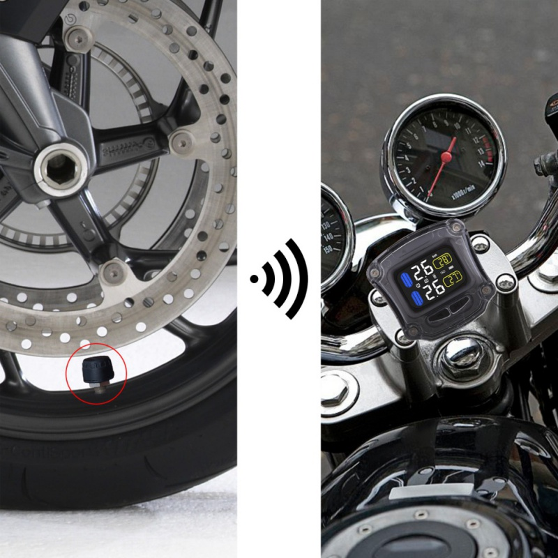 M3 Tire Pressure Monitoring System TPMS Drahtlose Reifendruck Überwachung Motorrad Reifen Motor Fatbike Fahrrad Auto Reifen Alarm
