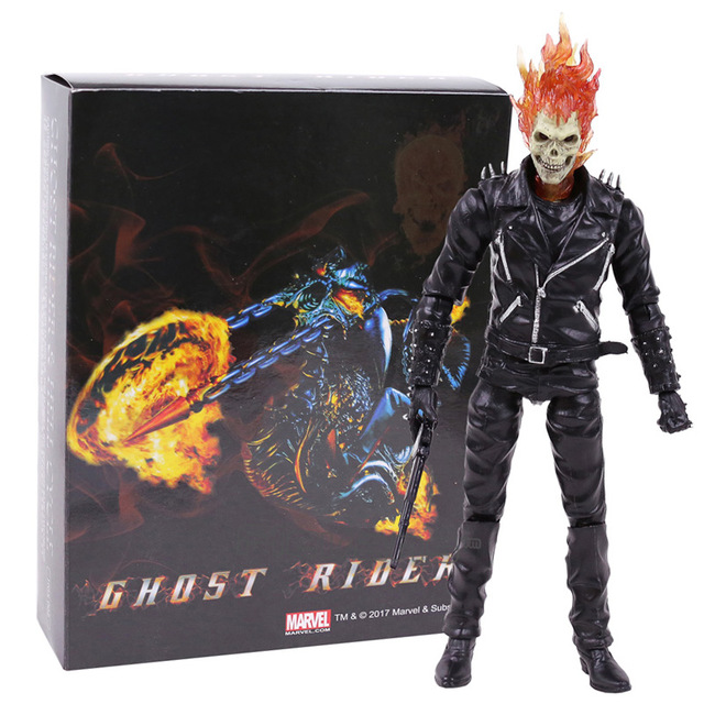 Marvel X-Men Ghost Rider PVC Action Figure Collectible Model Toy 23cm fire toy marvel deadpool pvc action figure collectible model toy 10 27cm mvfg363