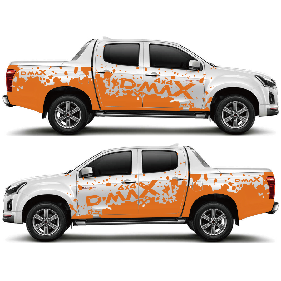 for dmax customize car accessories decal 2PC side body rear trunk mud styling protect scratch modified graphic vinyl car sticker
