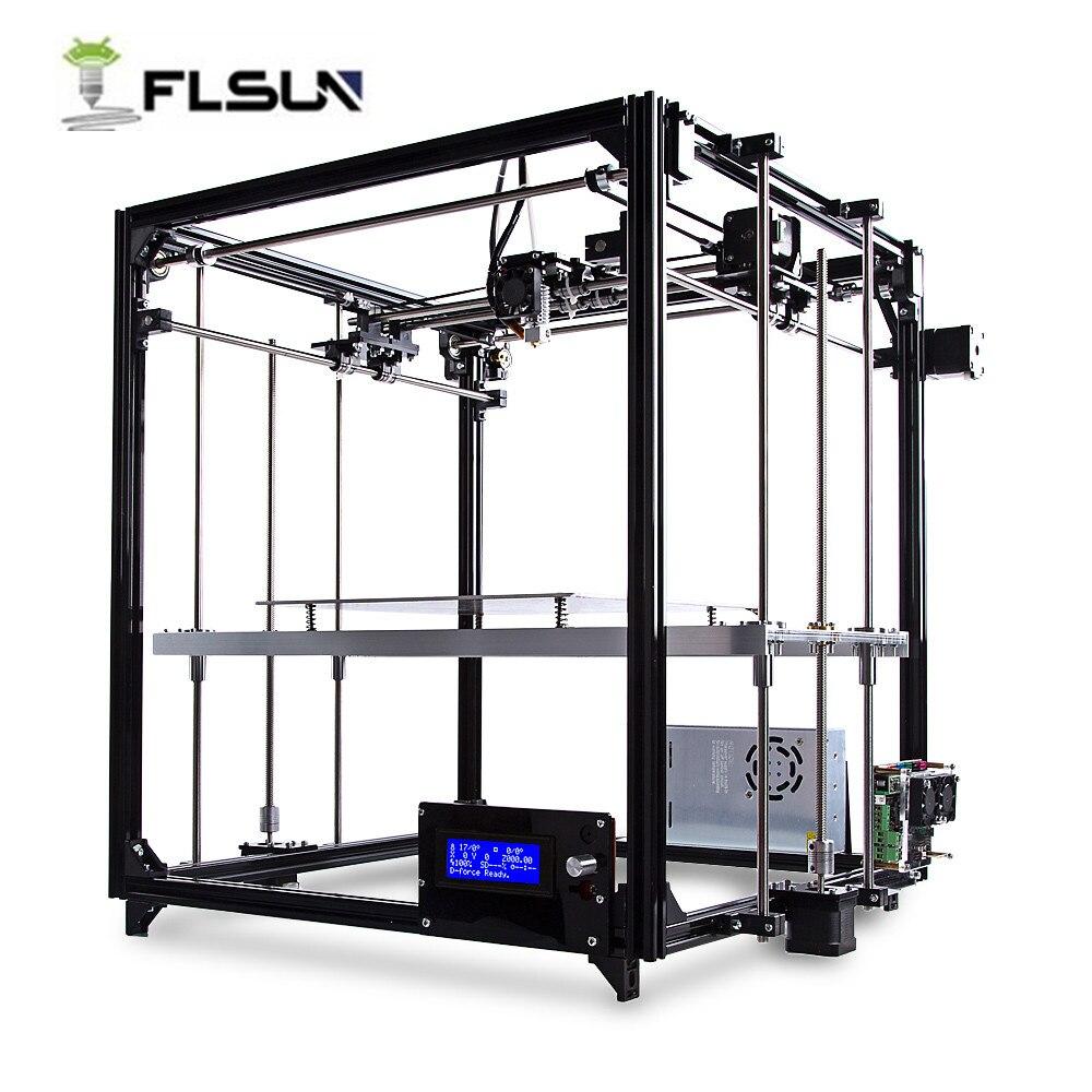FLSUN FL-C Cube Simple Équipée Cadre Grande Taille 3D Imprimante Kit