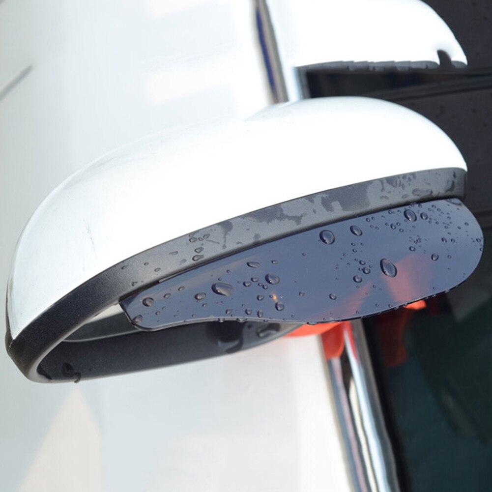 2Pcs Universal Rear View Side Mirror Rain Board Flexible Protector Sun Visor For Car Truck Suv Sedan