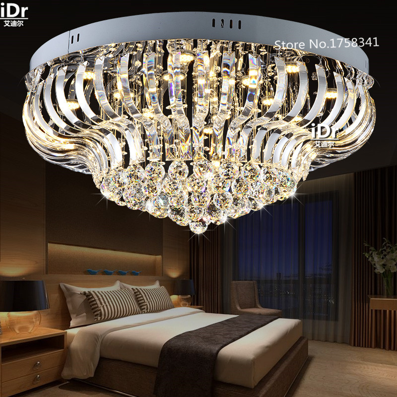 LED Crystal Light ceiling lamp bedroom luxury living room lamp modern minimalist restaurant light lobby luxury iDr-0045