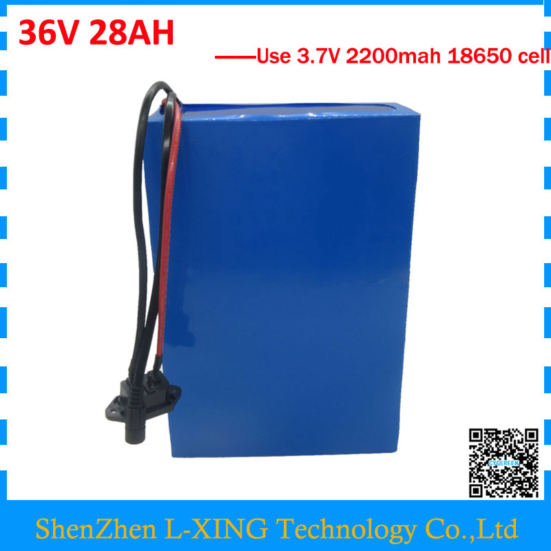 Free customs fee 1000W 36V 28AH battery 36V lithium battery 28ah 36 V Electric bike battery use 30A BMS 2A Charger free customs duty 36v 28ah battery pack 1500w 36 v lithium battery 28ah use samsung 3500mah cell 50a bms with 2a charger