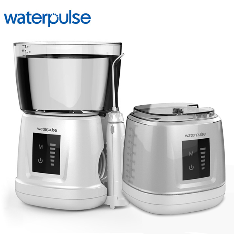 Waterpulse V700PLUS Water Flosser Oral Irrigator Traveler Portable Dental Oral Flosser 1000ml Capacity Oral Irrigator 6Pcs