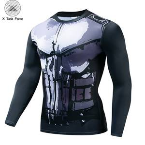 Venom Compression Shirt skull 3D Printed T shirts Men 2019 Newest Comics Cosplay Costume Long Sleeve Tops For Male Fitness