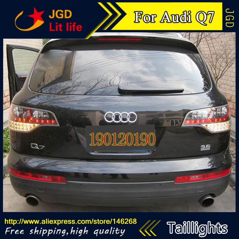 tail lights for Audi Q7 2006-2010 LED taillight Tail Lamp rear trunk lamp cover drl+signal+brake+reverse