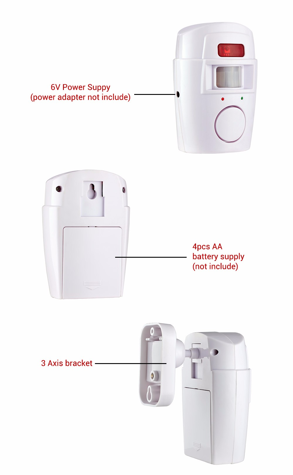 Security Alarm System Wireless Detector remote controllers PIR Infrared Motion Sensor alarm (