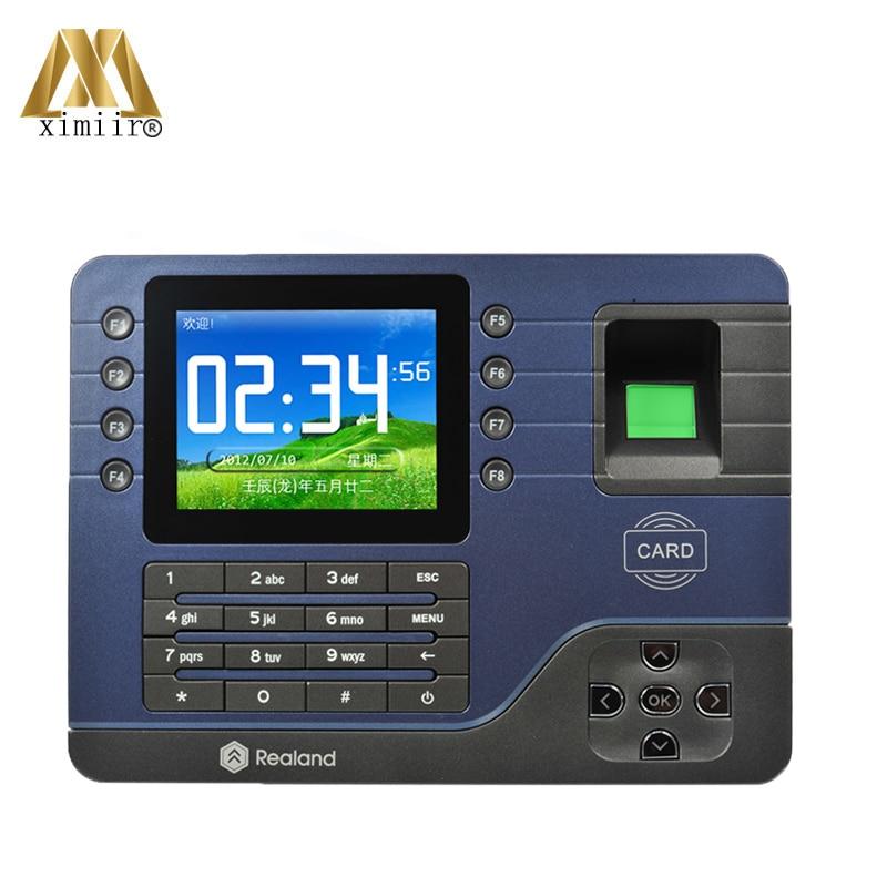 Realand A-C091 P2P Cloud Service Fingerprint Time Attendance With RFID Card TCP/IP USB Fingerprint Time Recording Time Clock
