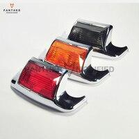 3 Colors Motorcycle Front Rear Fender Tip Light Lens Case For Harley FLHT Electra Glide Standard