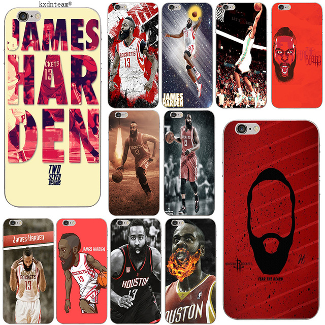 845e07378e85 James Harden Basketball Fans Soft TPU Silicon Phone Cases Slim Cover for  iPhone 8 7 6 6S Plus X 5 5S SE 5C 4 Shell Coque Fundas