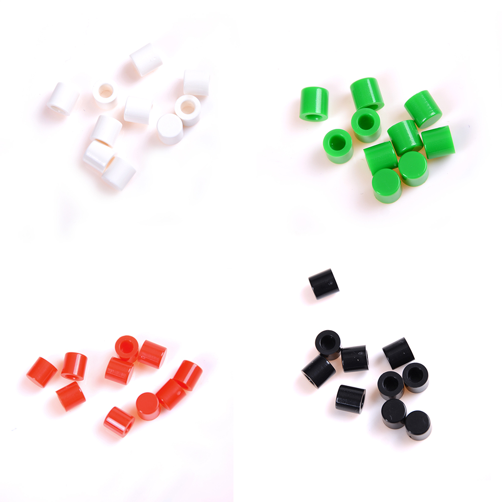 10PCS 6mm*6mm Tactile Push Button Switch Cap to Self-locking Switch Button Cap Round Key Caps Wholesale цены