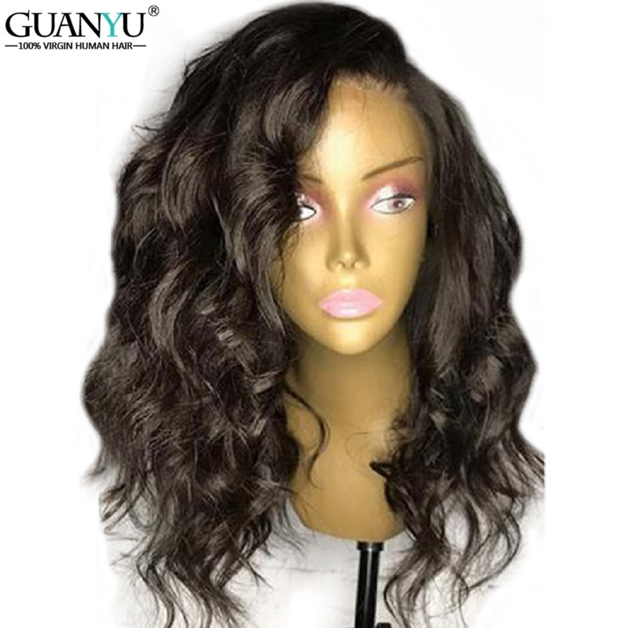 Glueless Lace Front Human Hair Wigs 13*4 Short Brazilian Remy Body Wave Lace Front Bob Wig With Baby Hair For Black Women Guanyu