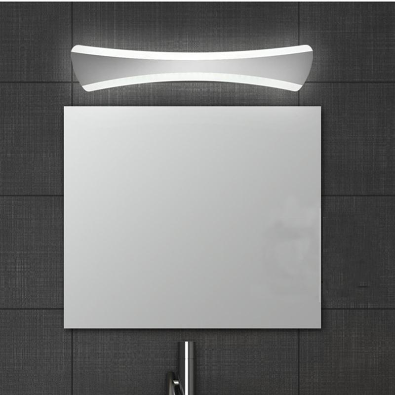 42cm stainless steel modern bathroom mirror lamp 14w minimalist modern led crystal bathroom mirror sconces light in led indoor wall lamps from lights - Bathroom Mirror With Lights