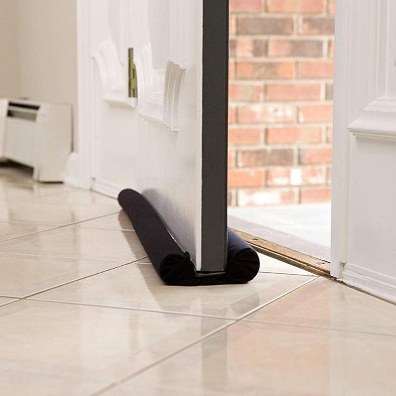 90CM Door Bottom Sealing Strip Household Guard Wind Dust Blocker Antipest Insulator Brown Interior Cotton Exterior Door Doorstop