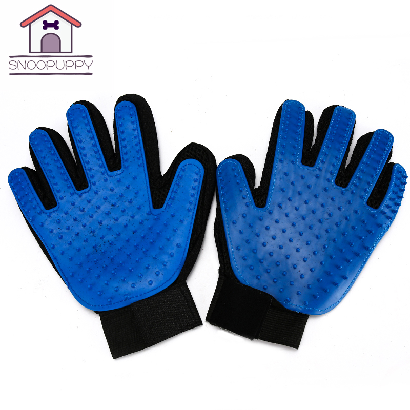 Cats Pet Grooming Glove Hackle For Cats Brush Pet Comb Deshedding Brush Glove For Animal Dog Pet Glove For Dog Cat Grooming Comb