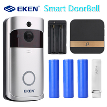 EKEN V5 Smart WiFi Video Doorbell Camera Visual Intercom with Chime Night vision IP Door Bell Wireless Home Security Camera все цены