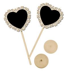 10 шт. сердце мини доска для класса, для объявлений Свадебная вечеринка украшение стола стенд