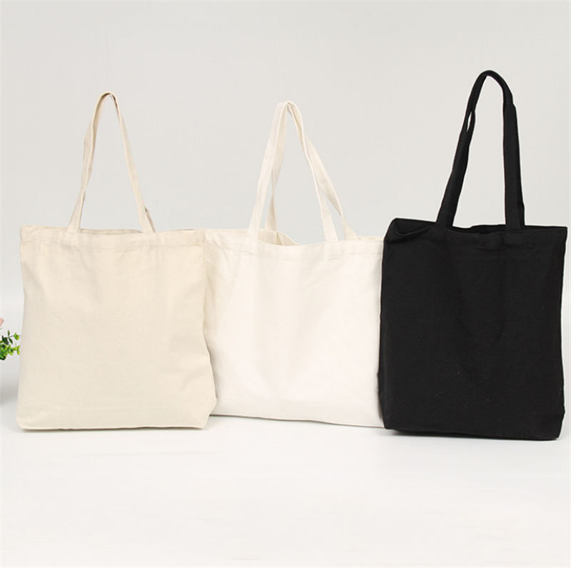 High-Quality Women Men Handbags Canvas Tote bags Reusable Cotton grocery Shopping Bag Webshop Eco Foldable Shopping Cart