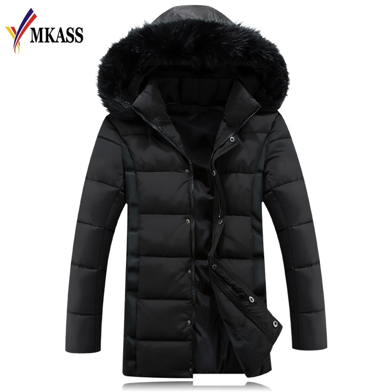 2017 Long Men Parkas Hooded Cotton Thick Warm Mens Winter Jacket Plus Size M-5XL Brand Clothing Man Coat Fur Collar Overcoats free shipping winter parkas men jacket new 2017 thick warm loose brand original male plus size m 5xl coats 80hfx