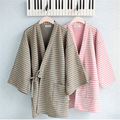Autumn Winter Couple Pajama Sets Two Piece Cotton Scuba Japanese Pajamas for Women and Men Home Clothes