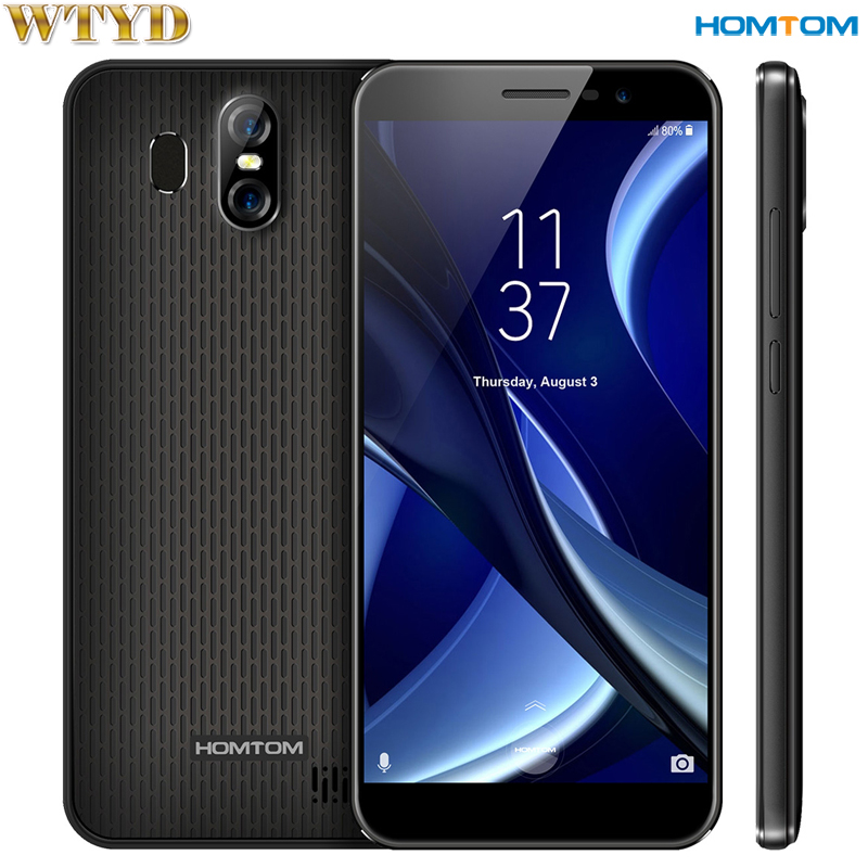 HOMTOM S16 RAM 2GB+ROM 16GB Dual Back Cameras Fingerprint Identification 5.5'' Android 7.0 MTK6580 Quad Core up to 1.3GHz OTA