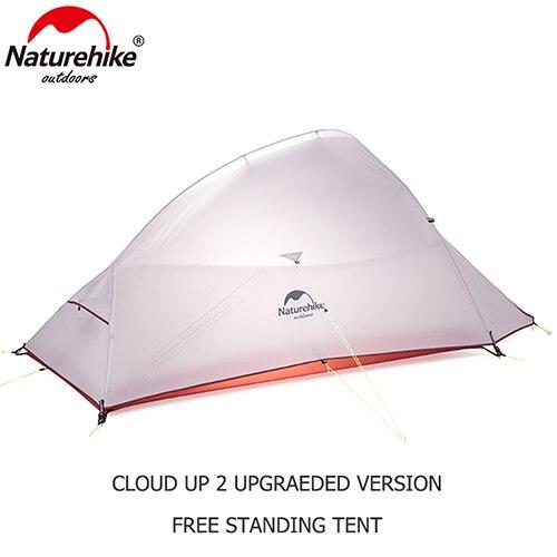 Naturehike Extérieure 2 Personne Camping Tente 20D Nylon Silicone CloudUp 2 Mise À Jour Ultra-Léger Tente Avec Tapis Pour Couple Randonnée Voyage
