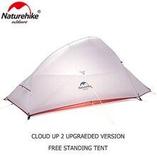Naturehike открытый 2 Человек Палатка 20D нейлон силиконовые CloudUp 2 Обновление Сверхлегкий Палатка с коврик для пара Пеший Туризм поездки