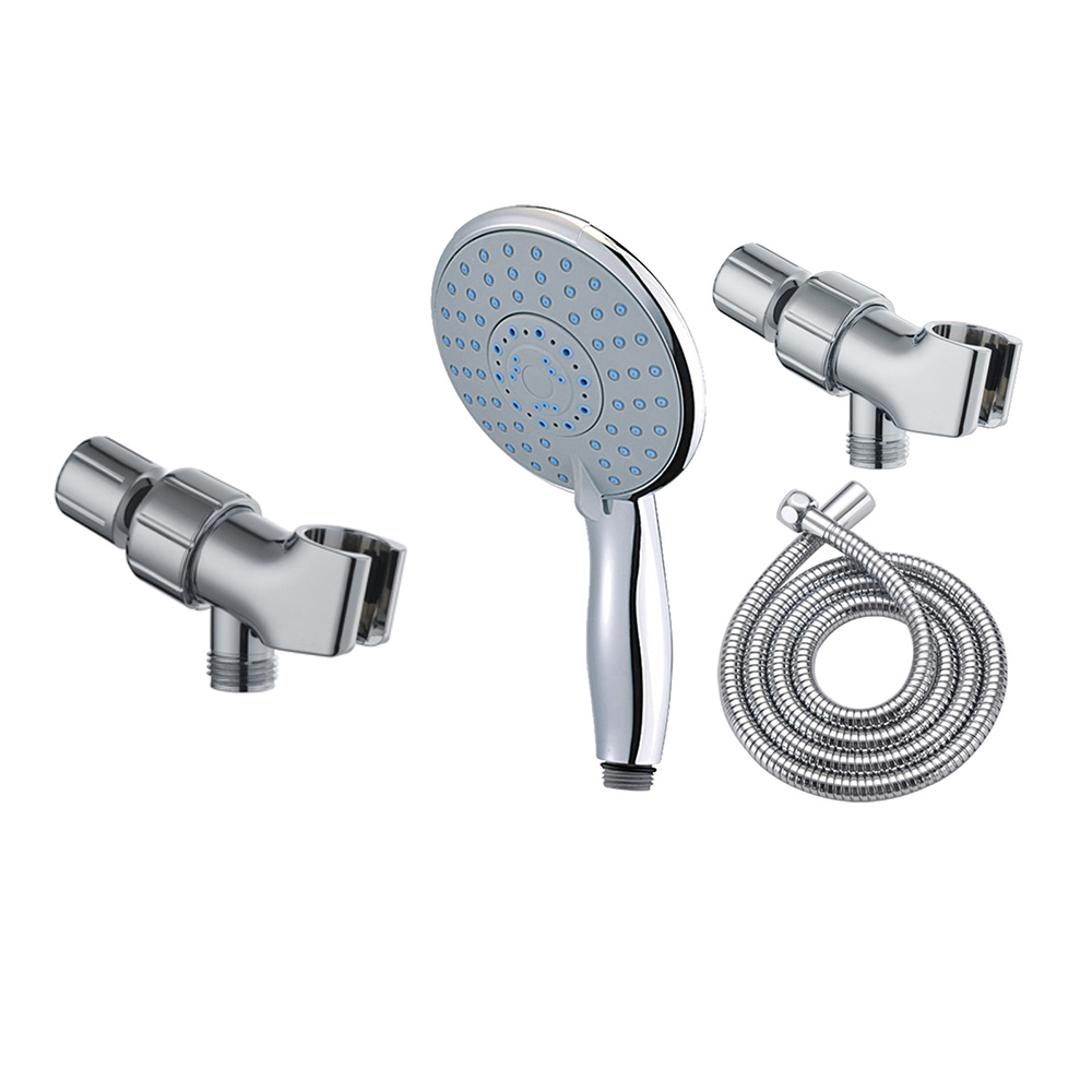 5 Mode Hand Shower+Stainless Steel Plumbing Hose+Adjustable Holder Shower Sets Sanitary Ware Suite Bathroom Shower Set