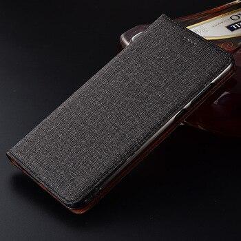 Flip Stand Case Cover For Asus Zenfone 5 ZE620KL / Asus Zenfone 5Z ZS620KL Case Cotton Linen Leather Card Design Phone Cover