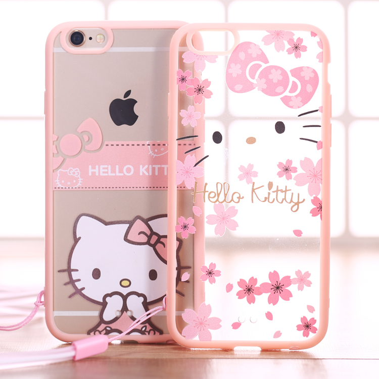 timeless design 8b7bf aaf12 US $7.9 |transparent cartoon hello kitty silicon case for iphone 6/6plus  waterproof dirt resistant anti knock on Aliexpress.com | Alibaba Group