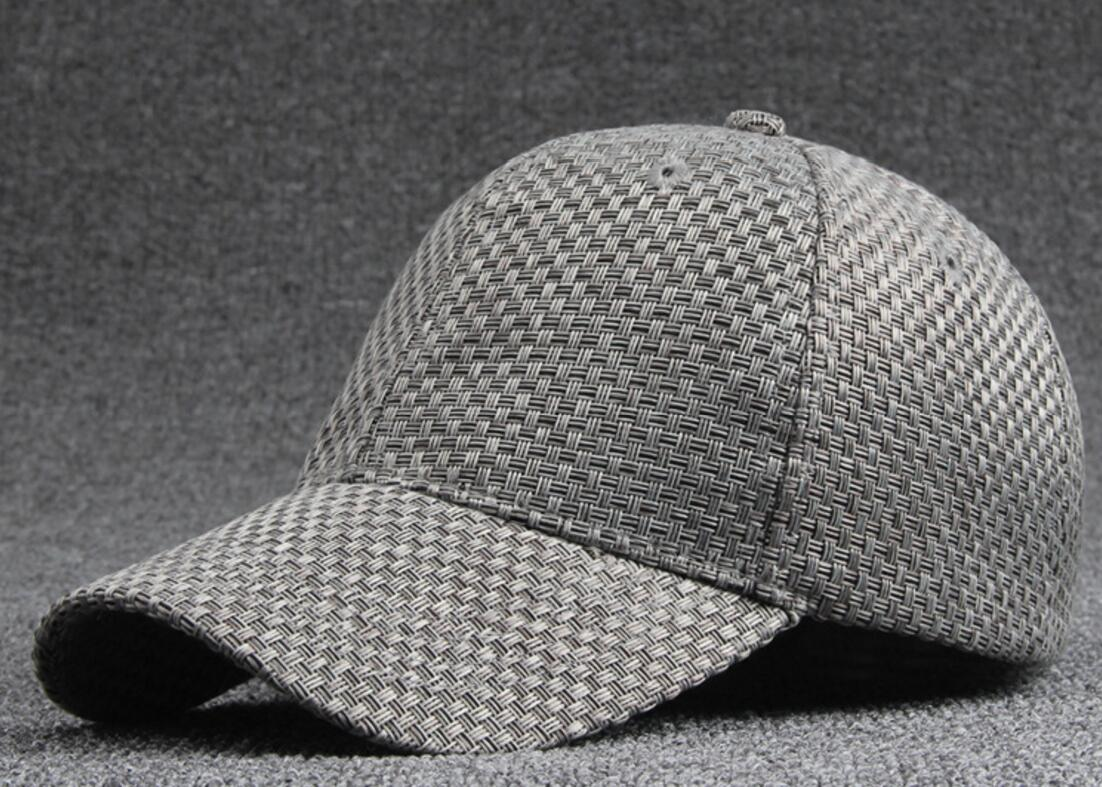 e62edd8a47e 30pcs Brand Men Grey Woven Baseball Hat for Spring Summer Women Plain Weave  Base Ball Back