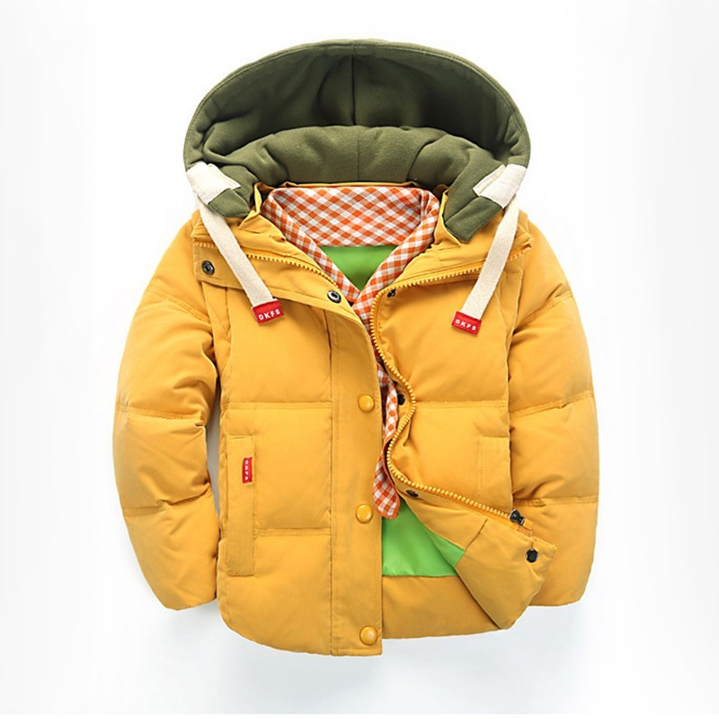 Boys Winter Clothes Down Jacket  Children Removable Hooded Parka Coat Kids White Duck Down Long Sleeve Outwear Child Clothing стоимость