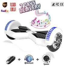 ul top Hover board 8 Inch Bluetooth Speaker LED Light 2 Wheel Scooter Self Balancing Scooter