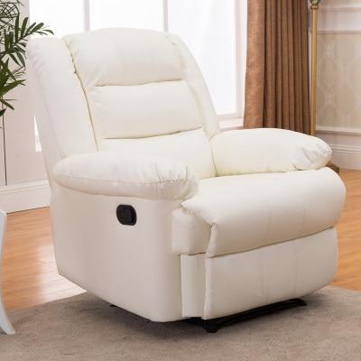 Европейский первый класс кабина Диван офисный дом Многофункциональный один диван стул лежа стул - Цвет: pure white