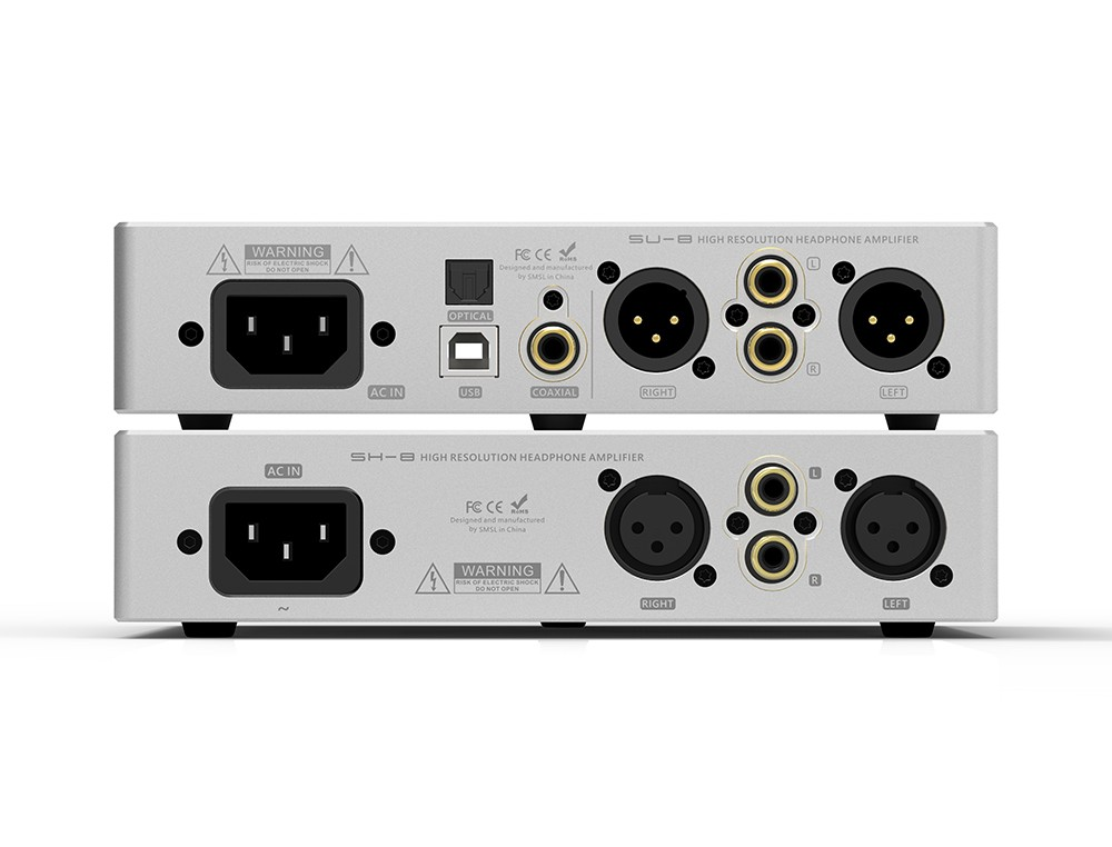 SMSL 88 Suit SU-8 2ES9038Q2M DSD Balance DAC Decoder And SH-8 High  Performance Headphone Amplifier