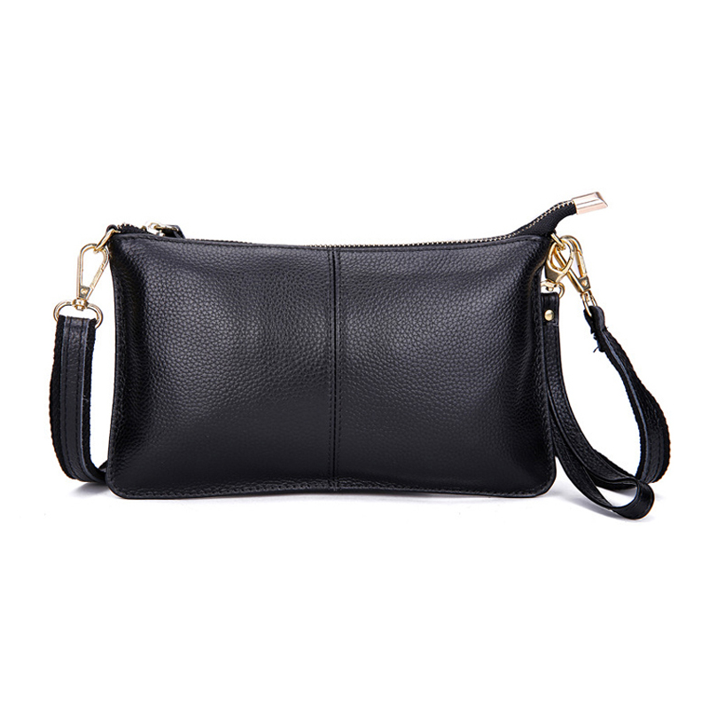 2017 Genuine Leather Women Bag Party Clutch <font><b>Evening</b></font> Bags Fashion Ladies Shoulder Crossbody Messenger Bags for women HB-245