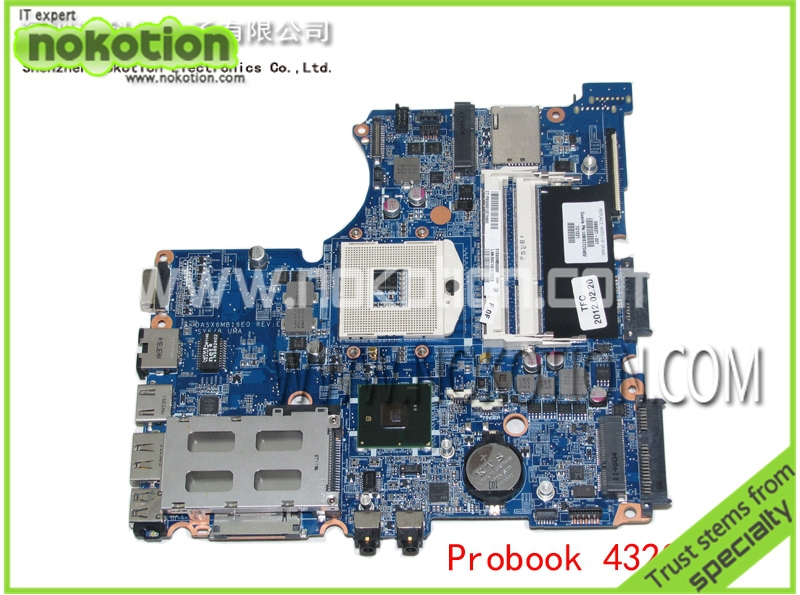 все цены на  NOKOTION DASX6MB16E0 REV E laptop motherboard for hp probook 4320s 599521-001 HM57 DDR3  онлайн