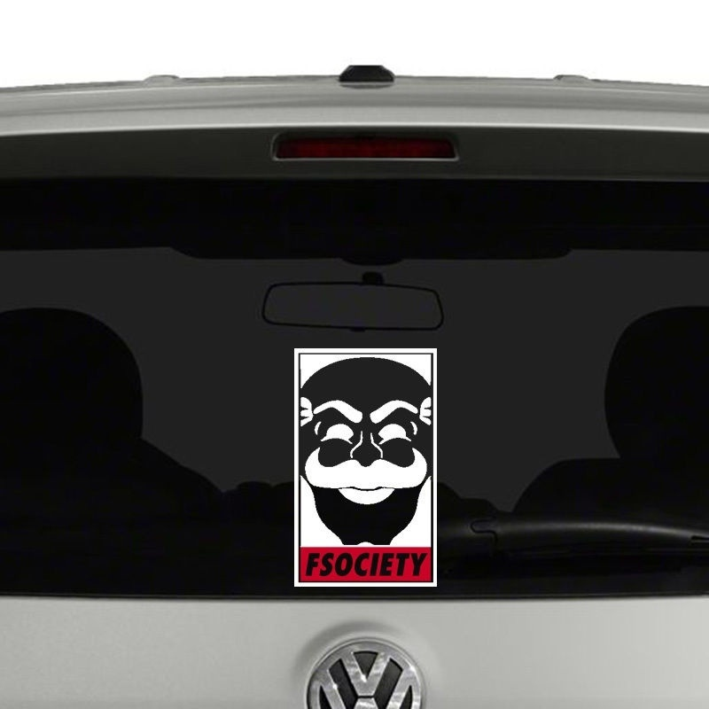 Fsociety Mr Robot Inspired Vinyl Decal Sticker Window 25cm