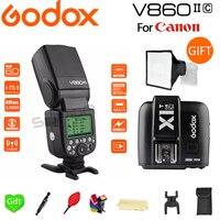 Accpect Paypal  godox V860II V860II-C E-TTL HSS 1/8000 s Li-na Bateria do Flash Speedlite para Canon Camera + X1T-C gatilho