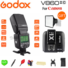 Paypal Accpect, Godox V860II V860II-C E-TTL HSS 1/8000s Li-on Battery Speedlite Flash for Canon Camera+ X1T-C Trigger цены
