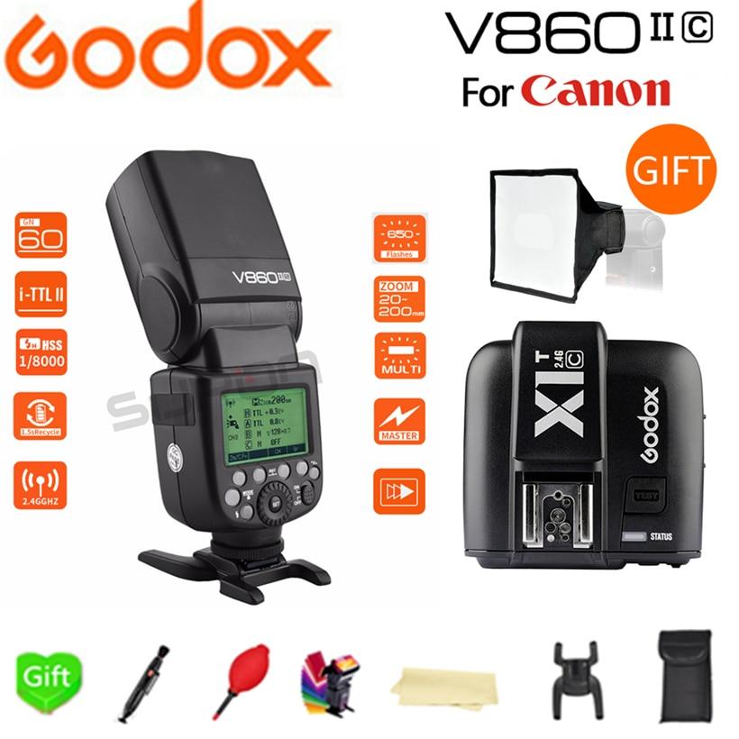 Paypal Accpect, godox V860II V860II-C E-TTL HSS 1/8000 s Li-sur Batterie Speedlite Flash pour Canon Caméra + X1T-C trigger