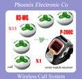 10 pcs Sino H3-WG E 1 Relógio À Prova D' Água Sistema de Paginação Sem Fio Restaurante Pager P-200C DHL Frete Grátis