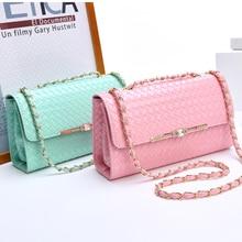 2016 new winter female Korean fashion tide chain shoulder Mini interval woven interior diagonal square bag free shipping