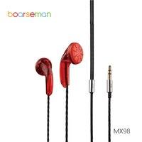 Original Boarseman MX98 In Ear Earphone DIY HIFI Bass Earphone For Iphone 6 For Xiaomi Redmi