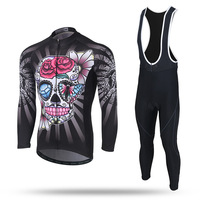 XINTOWN Cycling Sets Long Sleeve Cycling Jacket Bib Short Winter Male Quick Dry Pro Jersey Sets