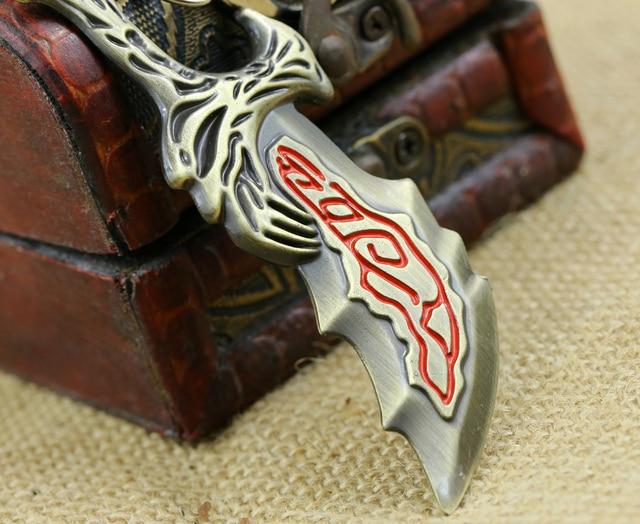 Game God Of War Keychain OLYMPUS KRATOS Metal Key Rings Blades of Chaos Kids Gift Chaveiro Key Chain Jewelry YS10927
