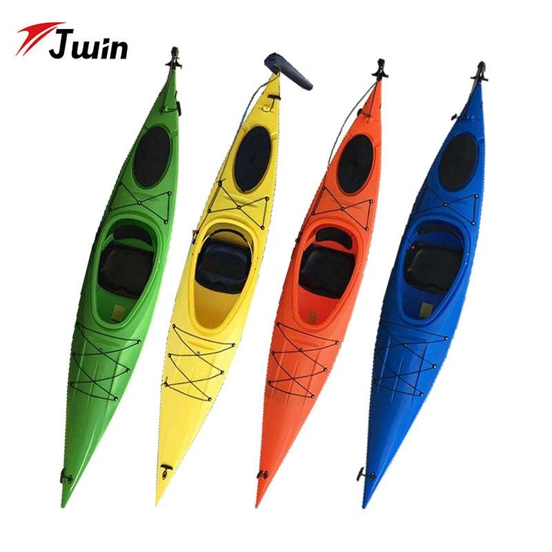 Aviron simple PVC vrai bateau de mer Kayak d'été pour la pêche dessin coloré canoë de surf